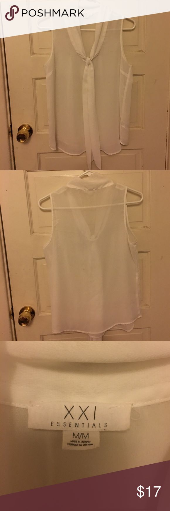White See-Through Blouse 😻 White See-Through Blouse size medium, in real good shape‼️ Forever 21 Tops Blouses