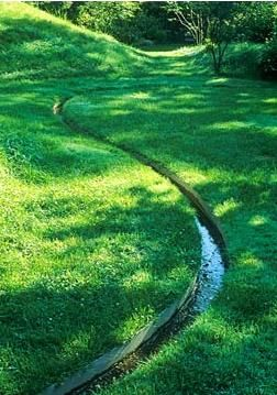 water feature long thin channel. Repinned by www.claudiadeyongdesigns.com  www.thegardenspot.co.uk