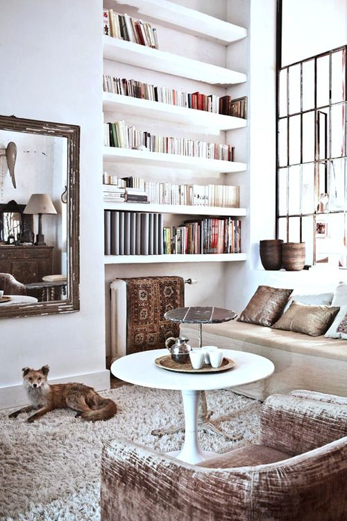 Source: Milk Mag Hello Mr. Fox, I like your Ikea Docksta table. It ties in well with the quirky mix of Boho/Moroccan meets industrial.