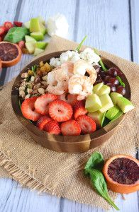 Strawberry Almond Shrimp Salad is great for summer.