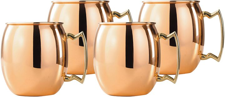Old Dutch 16oz. Moscow Mule Mugs (Set of 4)- Sip hot chocolate from these amazing copper mugs, love these! Coffee mugs|hot chocolate mugs|copper kitchen accessories|kitchen must haves|kitchen ideas|kitchen items #ad