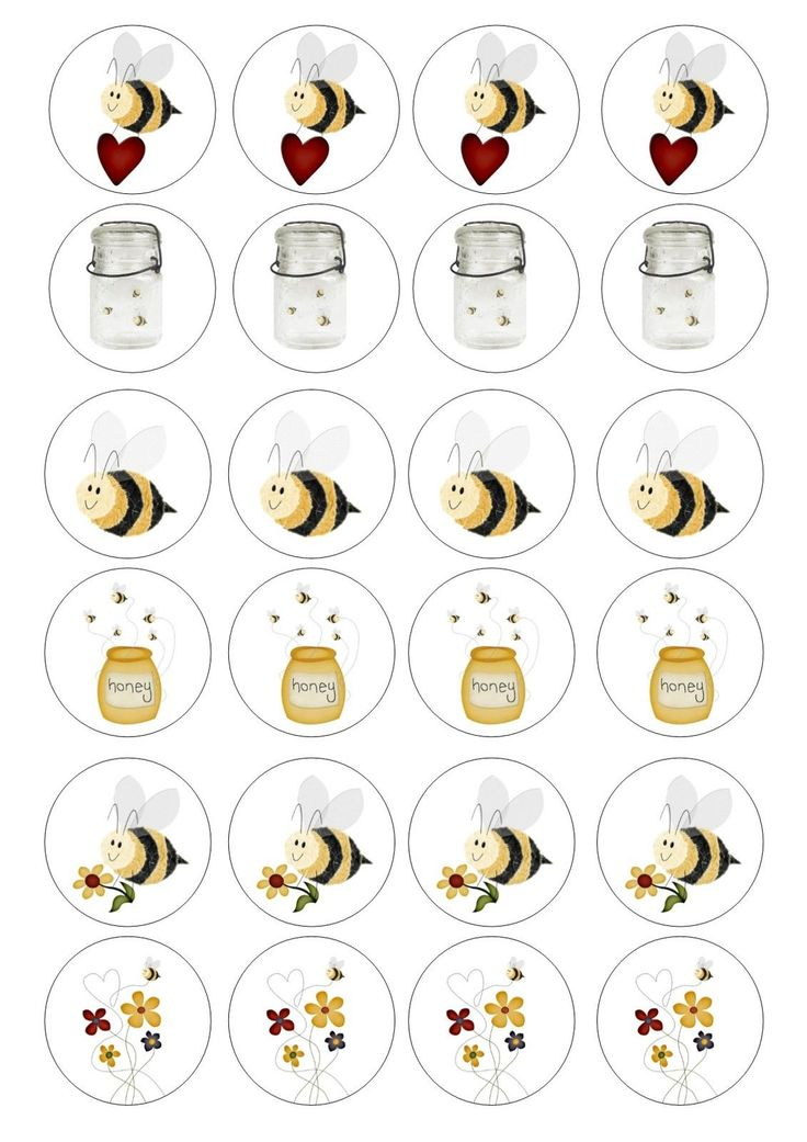 24 Edible Bee Honey Bees Wafer / Rice Cupcake Topper Edible Fairy Cake Toppers in | eBay