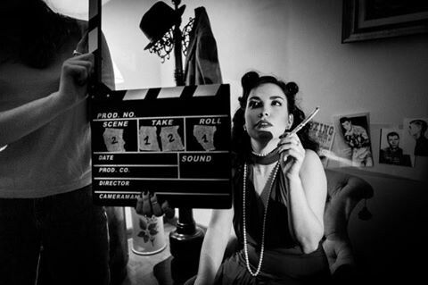Scene shot by Emanuele Giacomoni #diva #style #40s #attrice #girl #blackandwhite #photography #biancoenero #fotografia #set #shortfilm #Ciakmood #app #cinema