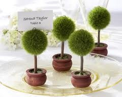 Topiary favors