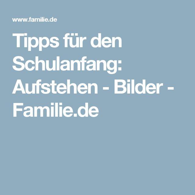 Tipps für den Schulanfang: Aufstehen - Bilder - Familie.de