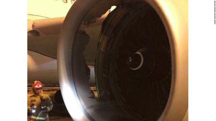 A China Eastern Airlines jet suffered a major engine failure shortly after taking off out of Sydney for Shanghai on Sunday.