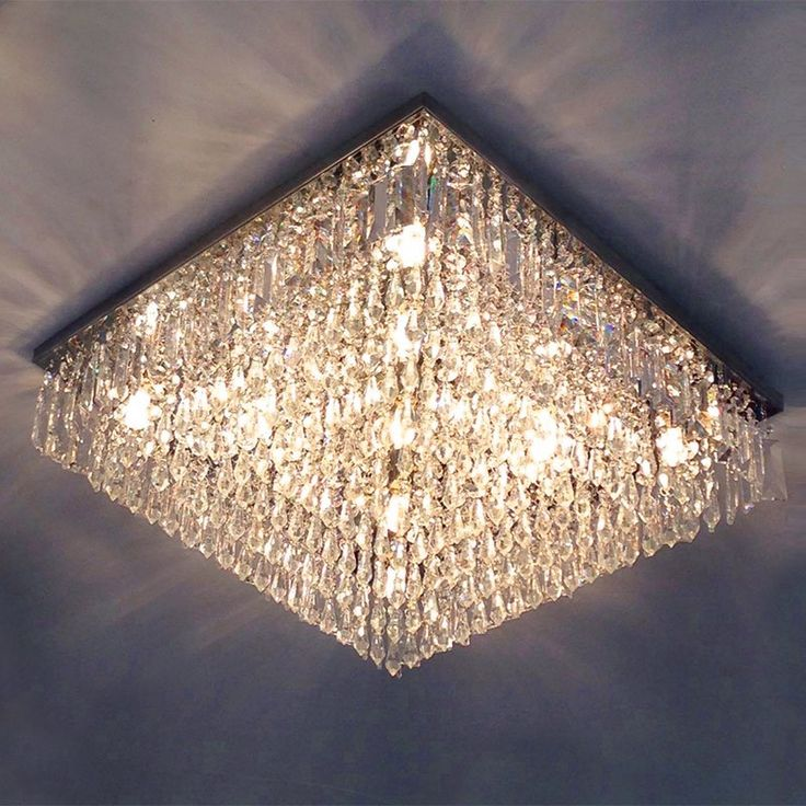 LUSTRE CRISTAL GALAXY QUADRADO 45X45X15CM - JP/GALAXY/45 :: Hunter Trade