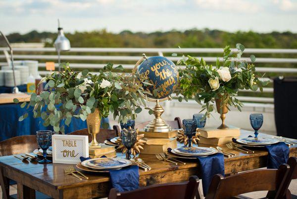 Colored wine glasses-Stargazer Wedding Inspiration