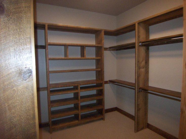 Custom Closet Shelving. Recycled Barn Wood. Revelations Sustainable  Furnishings. www.revelationsbend.