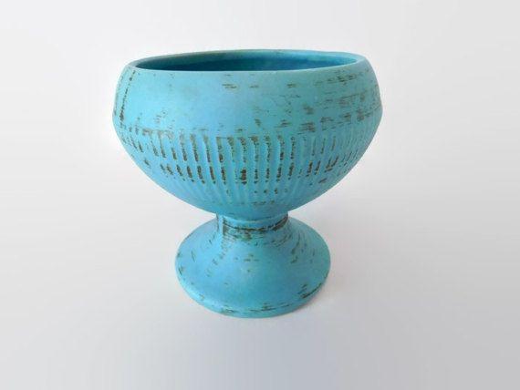 McCoy Pottery Blue Aqua, McCoy Pottery Vase Planter, McCoy Collectible, Vintage McCoy, Turquoise Art Decor Pottery, Vintage Home Decor