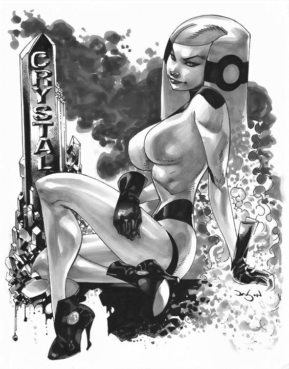 Crystal by Jason Pearson Comic Art
