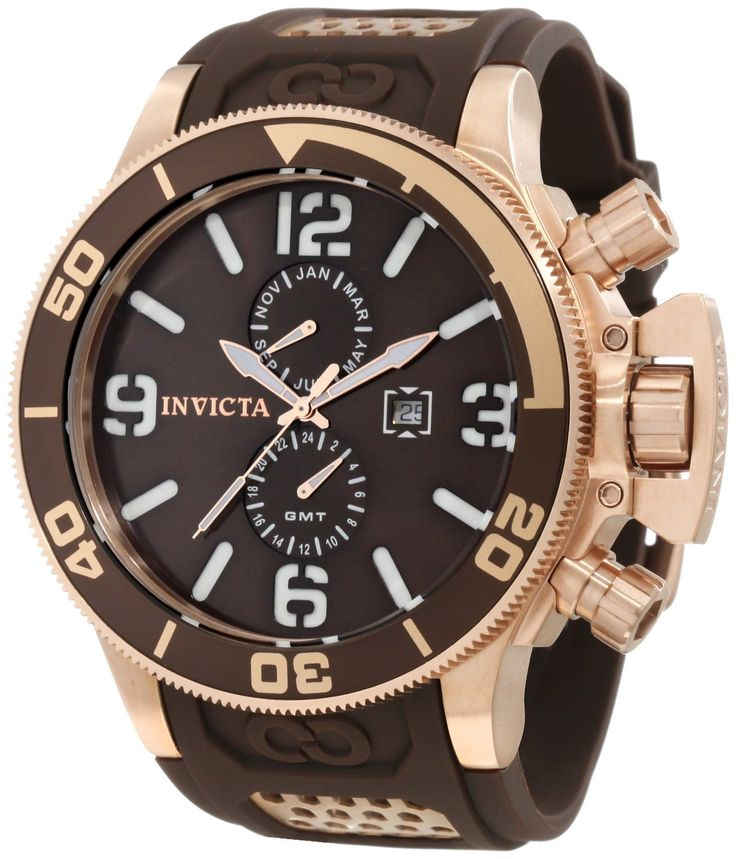 Invicta Men's 10506 Corduba Brown Dial Brown Polyurethane Watch.  Bringing you the best luxury watches online at the most affordable prices for premium brand name watches: http://www.bestwatches1st.com/#!invicta-corduba-watch-collection/mvf41
