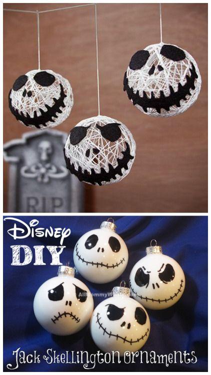 DIY Holiday Jack Skellington Ornaments. Top Photo: DIY Jack...