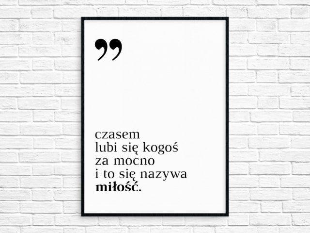 """Plakat A4 """"miłość wg Kubusia Puchatka"""""""