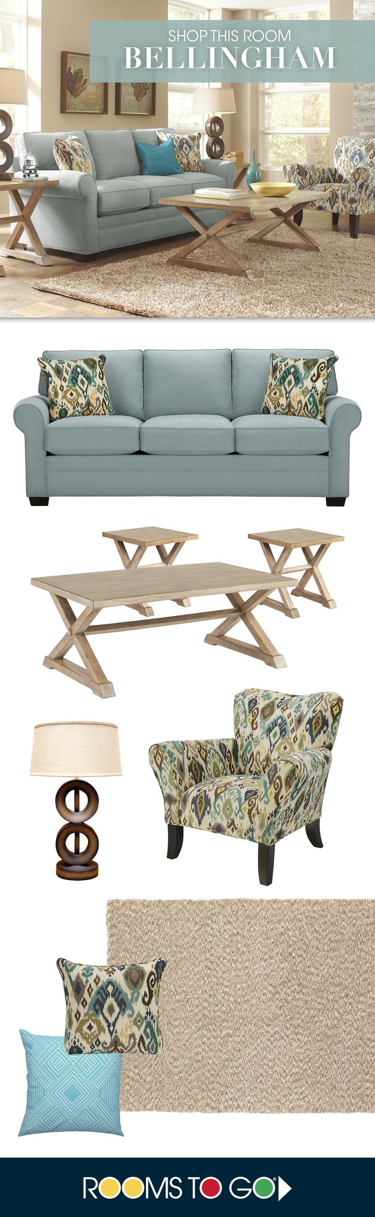Create a fresh inviting space when you select the Bellingham living room. Shop the collection now!