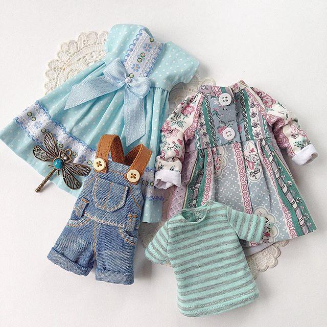 Одежда для куклы Блайз, сделано на заказ. #blythe #blythegram #blythedoll #одеждадляблайз #одеждадлякукол #блайз #куклаблайз #джинсовыйкомбинезон #комплектодежды