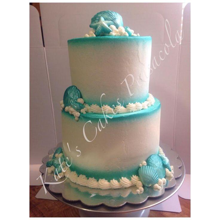 Seashell Beach Wedding Cake Pensacola Florida Kates Cakes