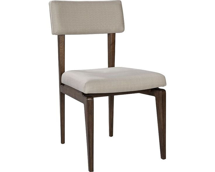 I'm liking the Ellen DeGeneres Collection from Thomasville:    ED Ellen DeGeneres Sena Upholstered Side Chair Crafted by Thomasville