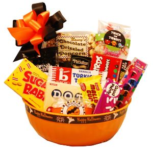 Tasteful Treats Halloween Gift Basket~Great Clutter Free Gift