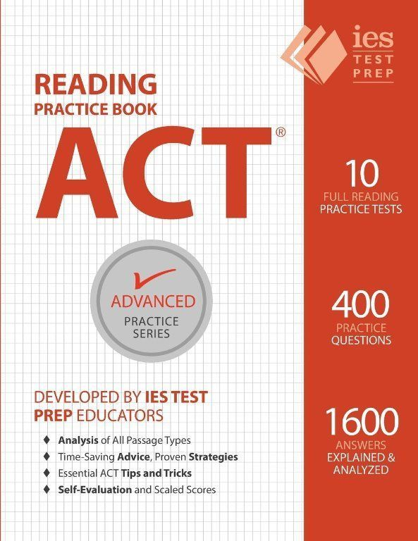ACT Reading Practice Book (Advanced Practice Series) (Volume 5) New Paperback