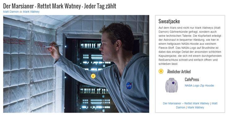 Auf dem Mars sind nicht nur Mark Watneys (Matt Damon) Gärtnerkünste gefragt, sondern auch seine technischen Talente. Die Kopfarbeit erledigt der Astronaut in bequemer Kleidung, wie hier in einem hellgrauen NASA-Hoodie aus weichem Fleece-Stoff. Das NASA-Logo auf Brusthöhe ist dabei das einzige Detail der ansonsten schlichten Kapuzenjacke, die sich mit einem durchgehenden Reißverschluss schnell und einfach öffnen und schließen lässt.