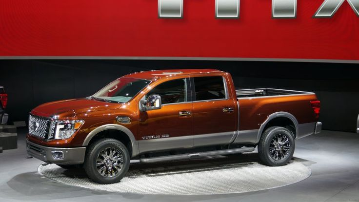 The 2016 Nissan Titan XD debuted at the 2015 Detroit Auto Show, packing a 5.0-liter Cummins turbodiesel V8 with 310 hp and 555 lb-ft of torque.