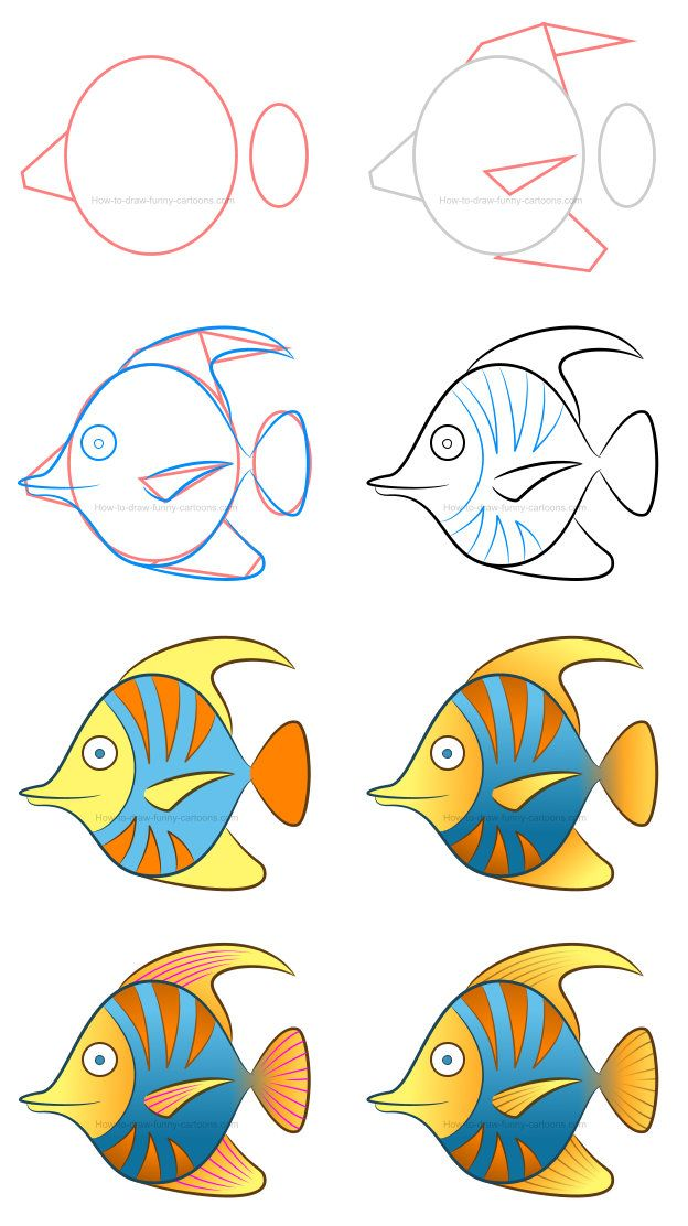 How To Draw A Tropical Fish Clipart Fish Drawing For Kids Fish Clipart Tropical Fish Art