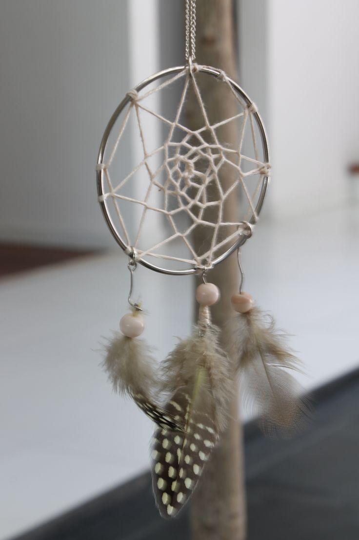 Easy diy dream catcher necklace diy craft decor for Easy to make dream catchers