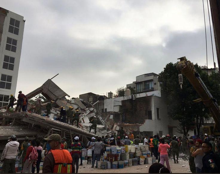 Bretaña 90 Col. Zacahuitzo. Después del sismo del 19/09/2017 CDMX.