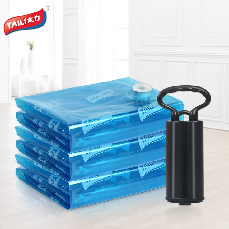 3 PCS+ 1 Hand Pump Vacuum Bag for Storing Clothes Vacuum Package Space Saver Saving Storage Bag Closet Organizer Folding Bag