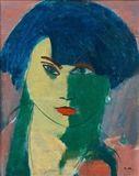 Otto Makila - PORTRAIT OF A WOMAN, Oil on canvas