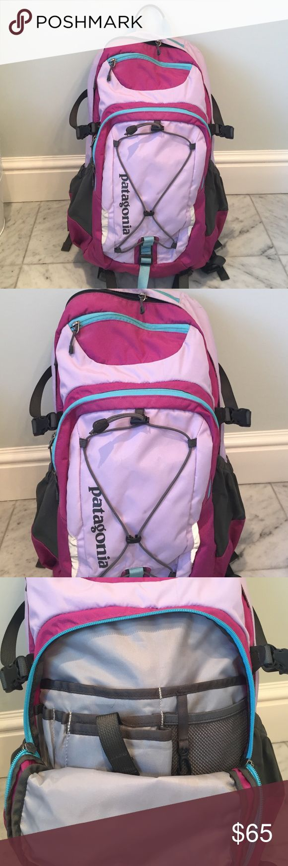 Patagonia Back Pack Patagonia Pastel Back pack. In good condition. Signs of wear on the top zipper pocket and left cup holders. Used for 1 year of school - plenty of life left! Patagonia Bags Backpacks