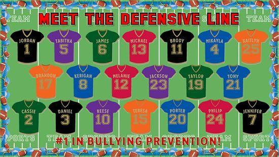 Sports Themed Bullying Prevention Bulletin Board Idea