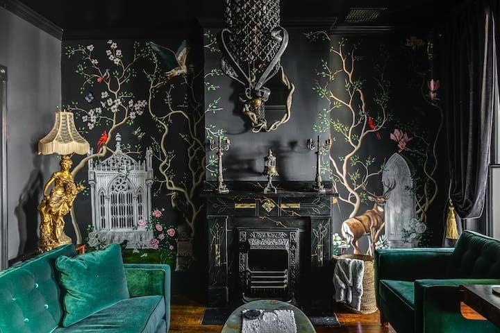 A Moody Gothic Apartment In The Center Of Richmond Gothic House Gothic Cottage Interiors Gothic Cottage