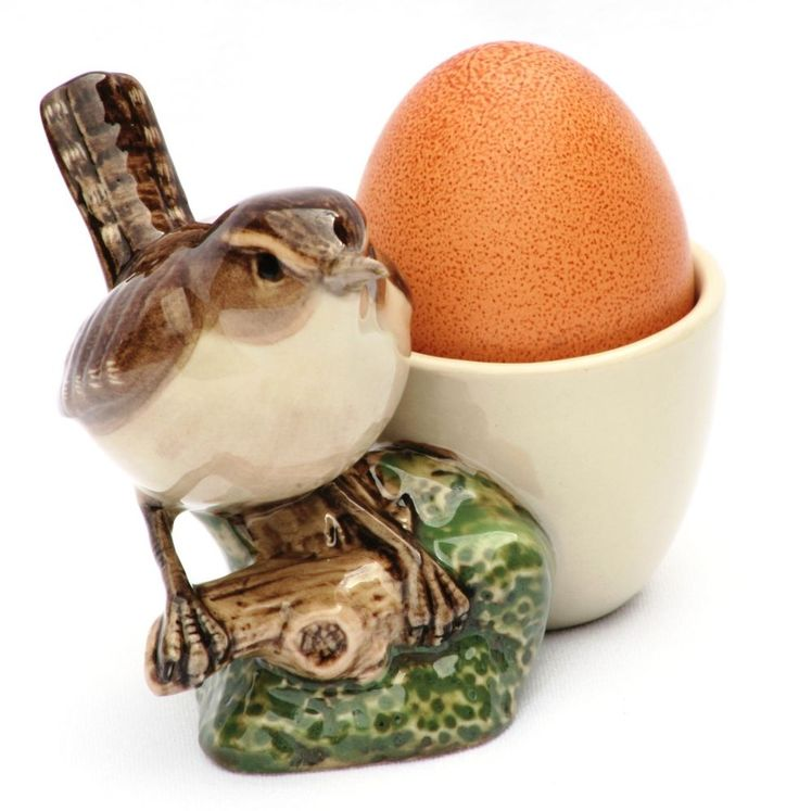 Wren Song Bird  Egg Cup by Quail Pottery. Arrives Gift Boxed. Lovely piece for springtime!