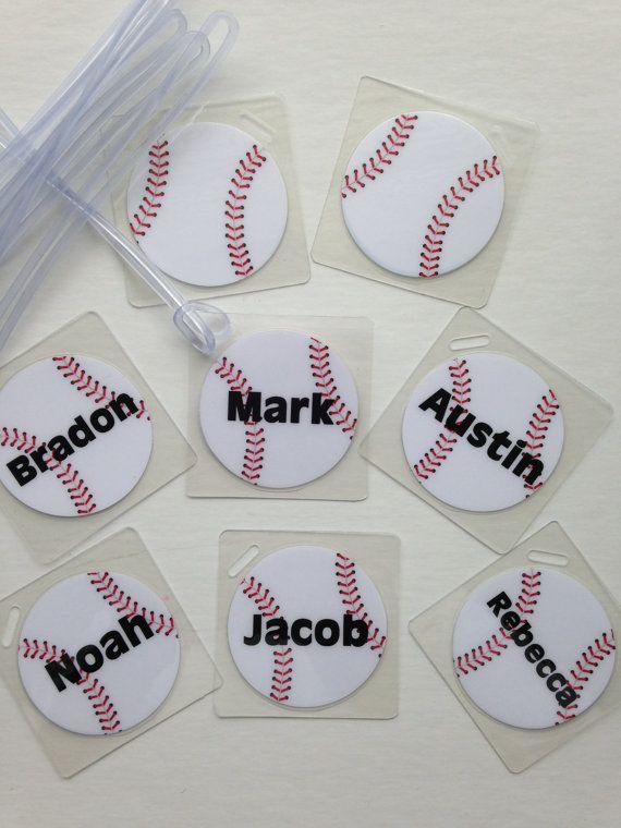 Baseball Bag Tags, Personalized Baseball Team Gifts $39.60