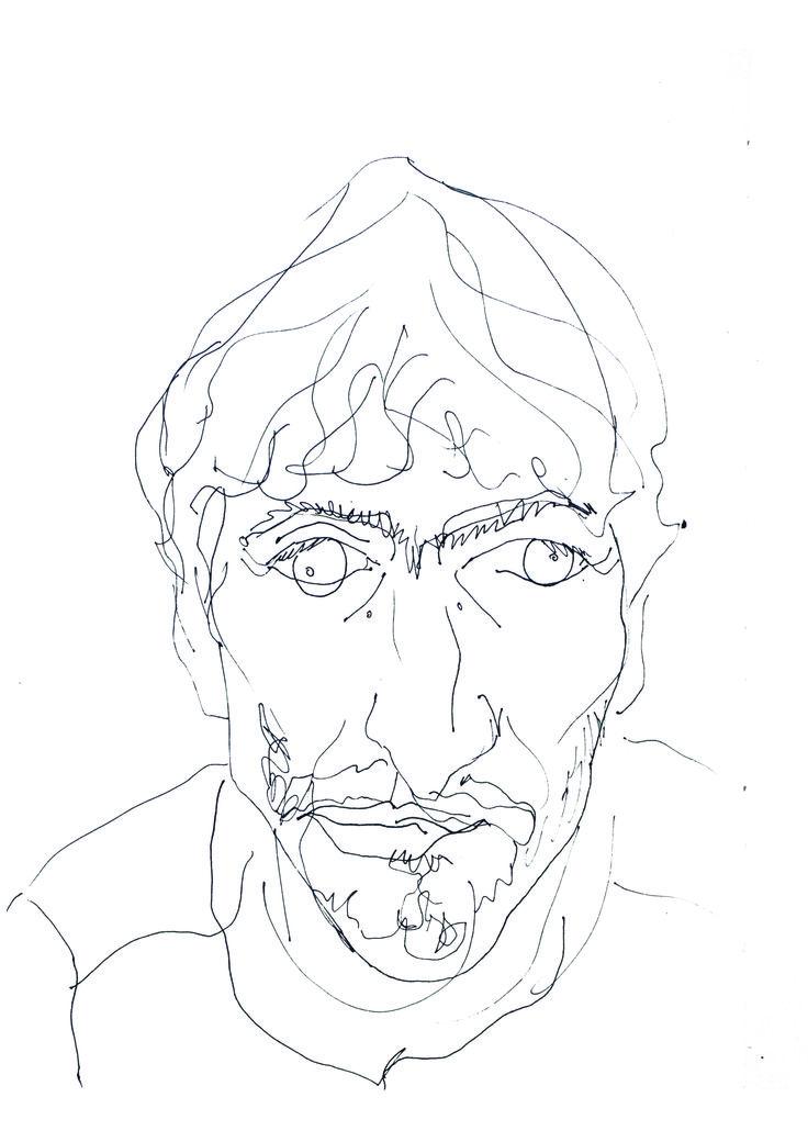 Paula Momparler-Dibujo de contorno ciego                              …