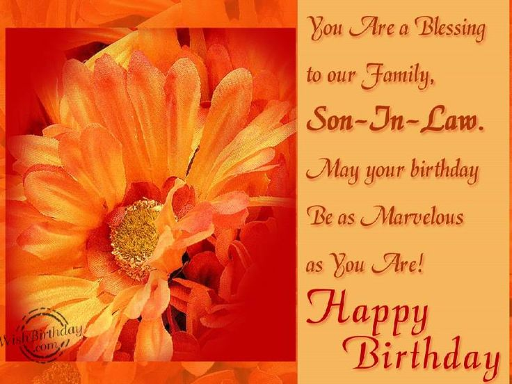 Happy Birthday Wishes For Son In Law: Best 25+ Son In Law Ideas On Pinterest