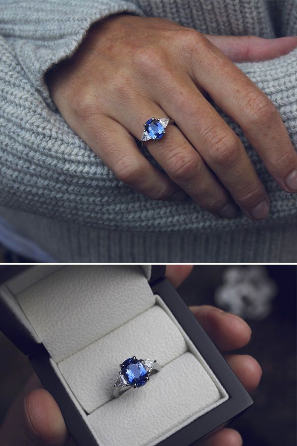Sapphire Engagement Rings Natural Ceylon Sapphire Ring 2 Carat Ceylon Sapphire Diamond Sapphire Engagement Ring Sapphire Diamond Ring Diamond Engagement Rings