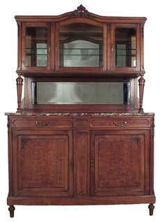 Louis XVI-Style Marble-Top Buffet - Mediterranean - Buffets And Sideboards - los angeles - by Castle Antiques