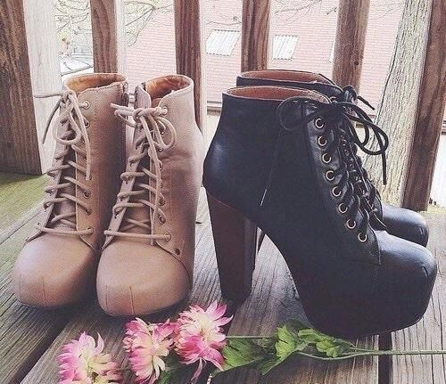 shoes, black, and boots Bild