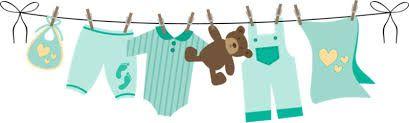 Resultado de imagen para tendedero de ropa para baby shower