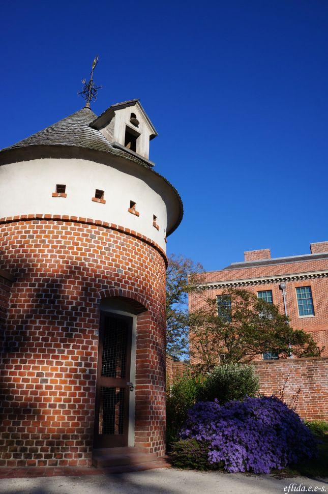 The dovecote at Tryon Palace in New Bern, North Carolina.