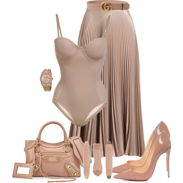 A fashion look from September 2017 featuring A.L.C. skirts, Christian Louboutin pumps e Balenciaga handbags. Browse and shop related looks.