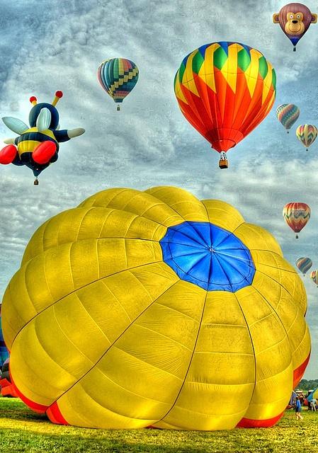 Balloon Festival by Bob Jagendorf, via Flickr