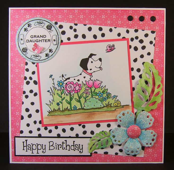 Designed by Allison Hugill using Little Claire Dalmation in Flowers digi stamp