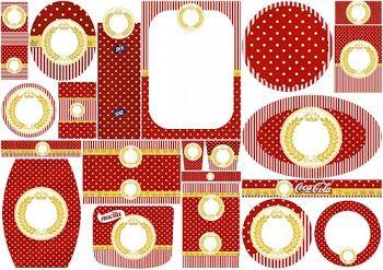 Corona Dorada en Rojo: Etiquetas para Candy Buffet para Bodas para Imprimir Gratis.