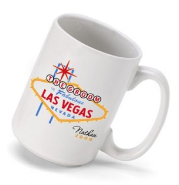 Heading to Vegas for a bachelor party or other special occasion? Celebrate your trip with our personalized beer stein emblazoned with a traditional-style Las Vegas logo and featuring the name of the recipient. Holds 15 ounces. Choose from Best Man, Bride, Bridesmaid, Groom, Groomsman, Maid of Honor and Usher. Personalize with their name and year. #heartdeeds #mug #coffee #las #vegas