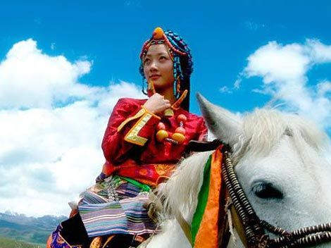 Adult ceremony of the Tibetan girls: marriage to the sky - China culture