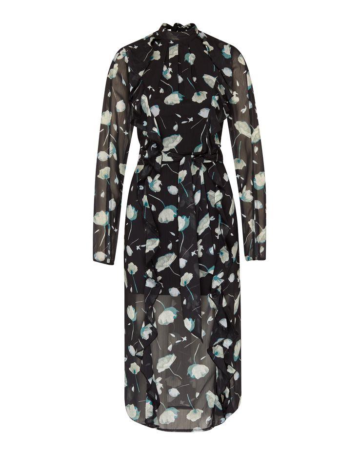 Blusenkleid Von EDITED The Label @aboutyoude. Das Maxidress Kommt In Einem  Blumen Design